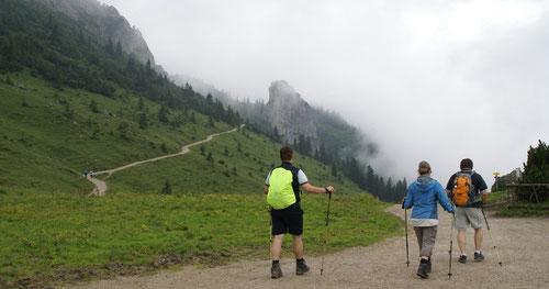 Abstieg der Wandergesellschaft