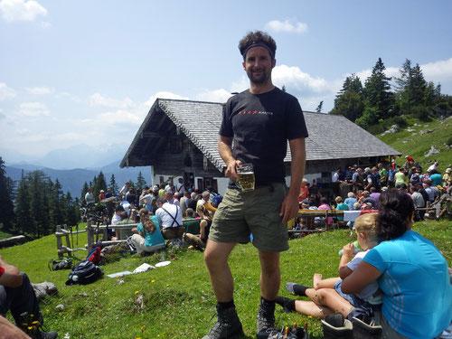 Auf der Kohleralm wo zuvor die Bergmesse stattfand.