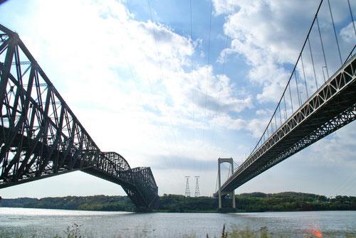 Die Pont Pierre Laporte mit dem St. Lorenzstrom