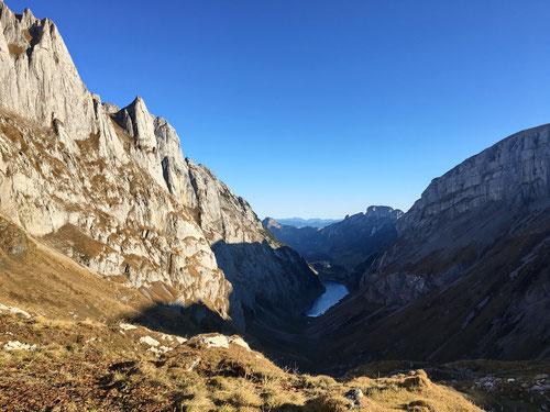Blick zurück auf den Fählensee auf 1'447 Meter