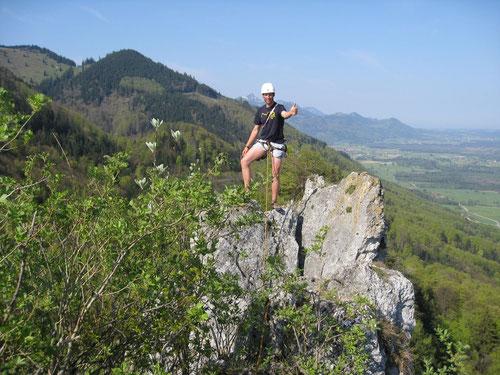 Sepp auf dem Gipfel