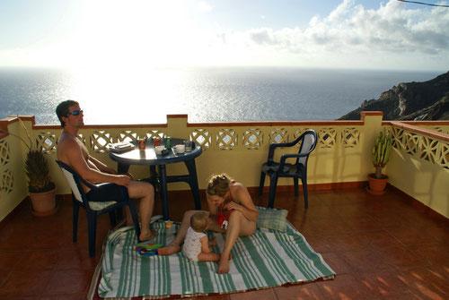 Entspannen auf der Terrasse des Casa Rosario