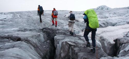 Unterwegs auf dem Trift-Gletscher
