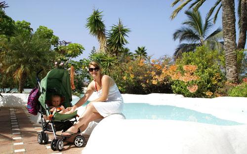 Im Hotelgarten des Jardin Tropical