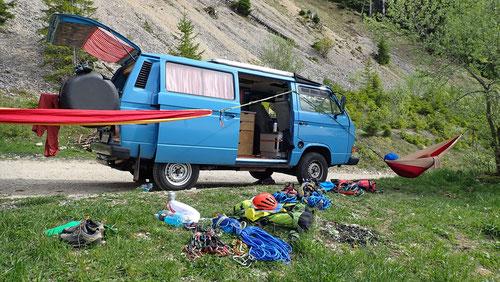 2020/05: Das after climb Leben der Alpendudes...