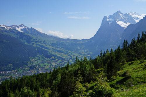 Blick zurück auf die Grosse Scheidegg.