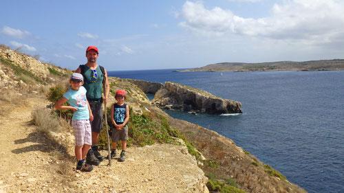 Wanderung von Mgarr nach Hondoq Bay