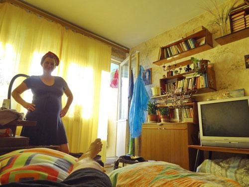 Unser Zimmer. Endlich Ausruhen.