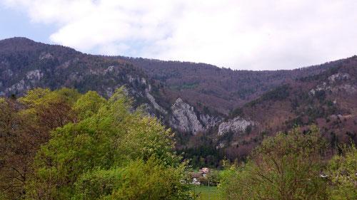 Die Felsrippe von La Paradis.