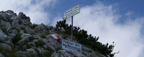 Aufstieg zum Mittelstaufen, 1618m (gesichert)