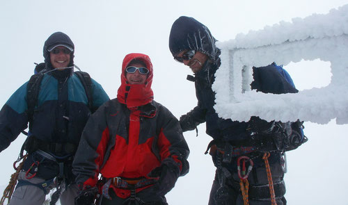 Gipfelvergnügen ohne Aussicht