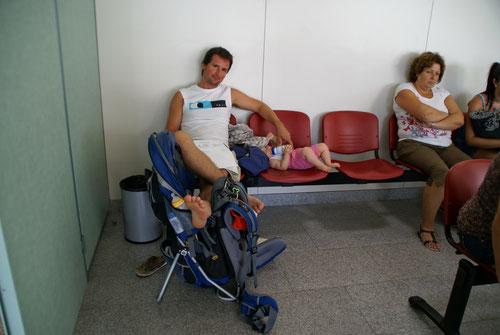 Warten im Krankenhaus