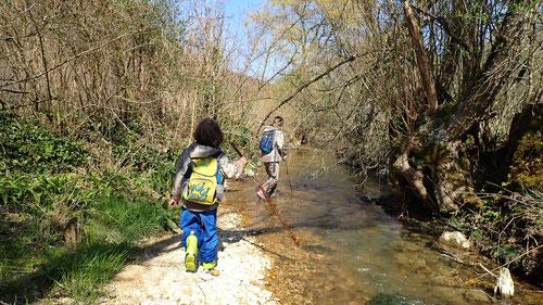 Wasserwandern: So lieben wir das :-)
