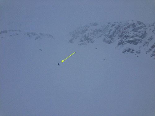 Abfahrt bei 0-Sicht! Zum Glück hatten wir ein GPS dabei!