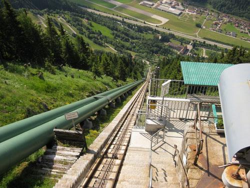 Die steilste Standseilbahn Europas