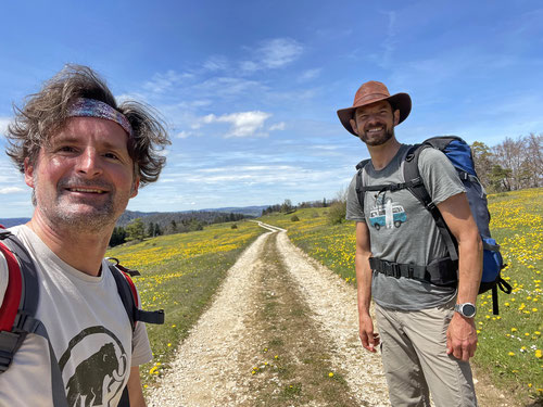 Wander-Dudes in der Nähe von Loge de Soulce