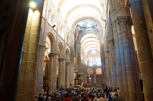 Im Innern der Kathedrale wo sich auch Grabstätte des Apostels Jakobus befindet.