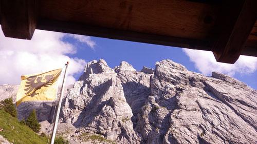 Blick aus der Engelhornhütte.