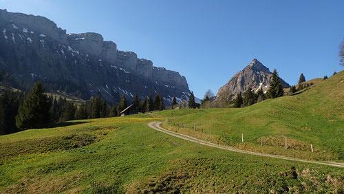 Blick von Innereriz zur Sichel (Pass)