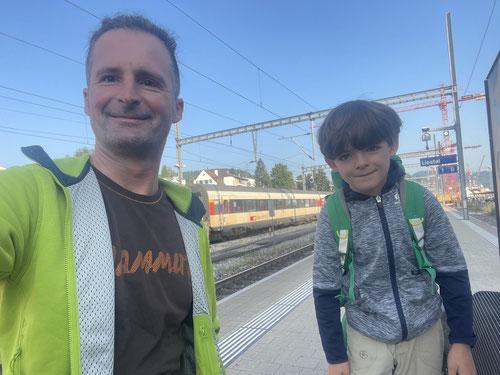 In Liestal wechselten wir auf den Zug.