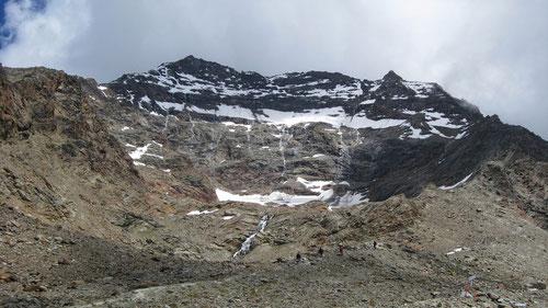 Blick zurück zum Lagginhorn und dessen gekletterten Grat