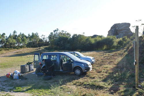 Radwechsel unterhalb des Pico da Frouseira.