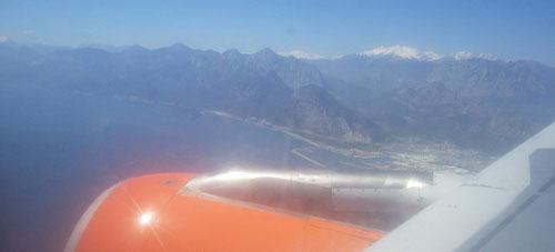 Anflug über Antalya