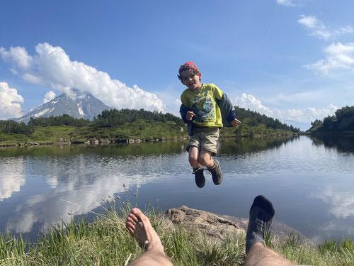 Am kleinen See unterhalb der Suniggrathütte.