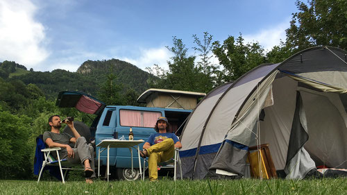 Posen auf dem Camping Bachmattli