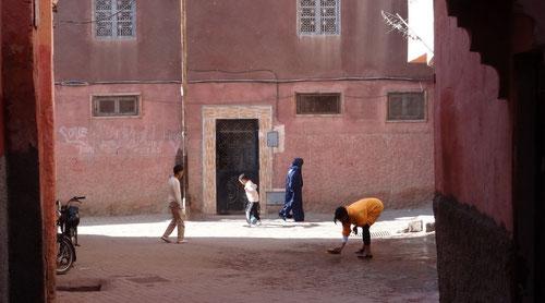 In den Strassen von Marrakesch