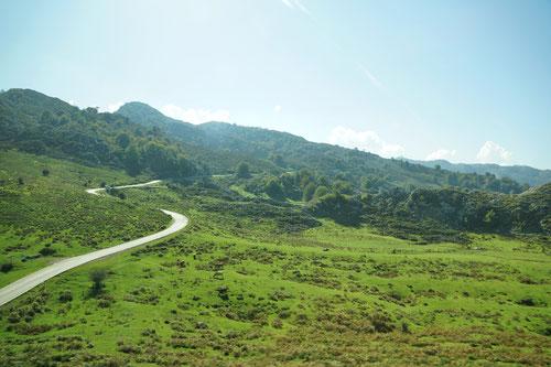 Auf der Fahrt zu den Seen von Covadonga.