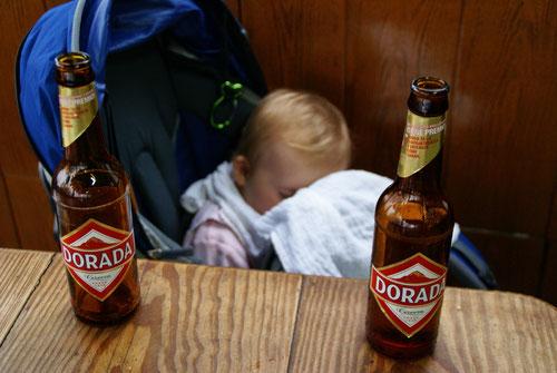 Emilia war schon nach zwei Bier dicht...