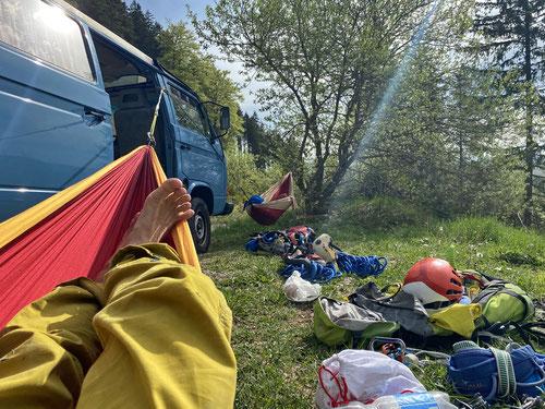 Das after climb Leben der Alpendudes...