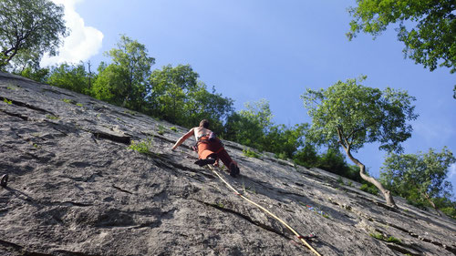 Im Klettergarten von Casazza
