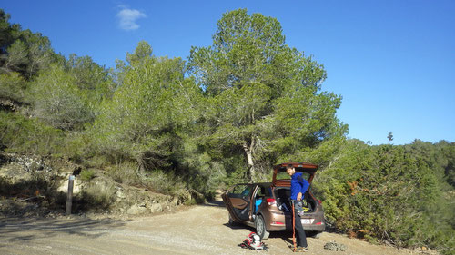 Ausgangspunkt für den Kletterspot Sombra