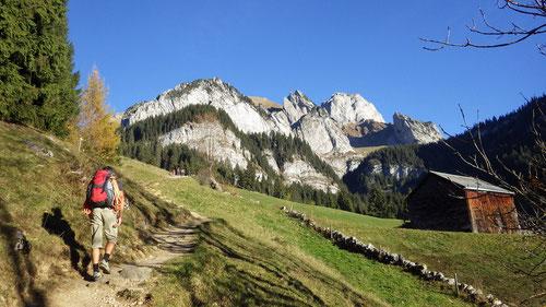 Aufstieg zur Alp Gamplüt