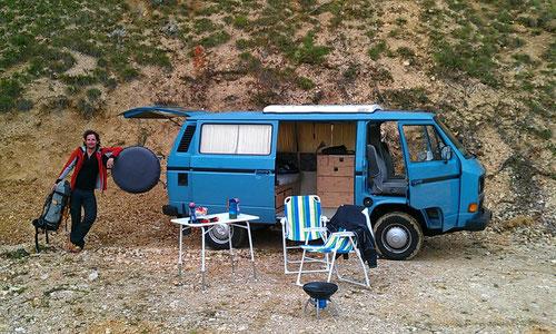 Olli mit VW Bus Alois