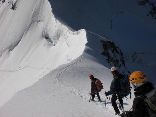 Beim Abstieg auf dem Rottalsattel