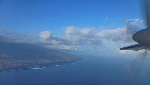 Anflug auf die Insel Fogo