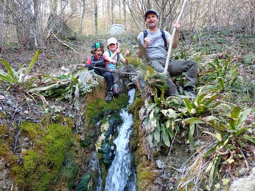 Die Quelle des Orisbachs im Steilhang ist gefunden!