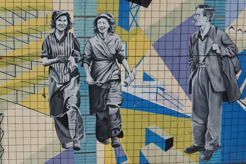 """Solche """"Murals"""" sind in Belfast überall zu finden."""