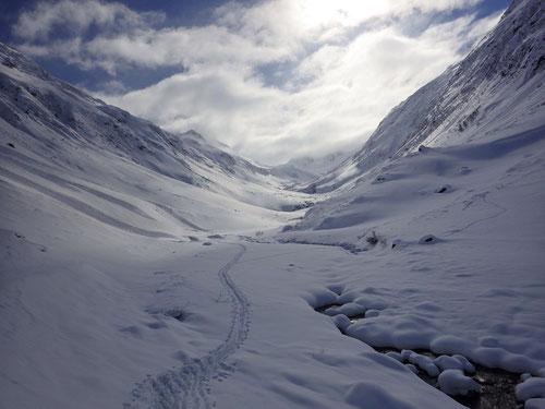 Blick zurück ins Unteralp-Tal