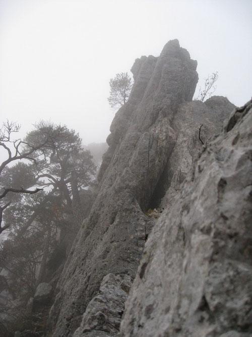 Die Steilwand, welche uns die Zeit stahl...