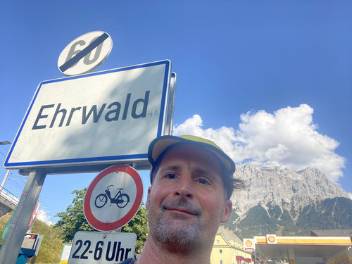 In Ehrwald angekommen.