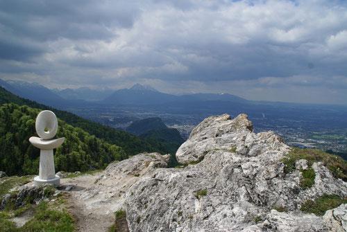 Blick auf Salzburg und das Berchtesgadener Land