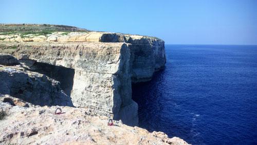 Blick auf die Wied il-Mielah Arch