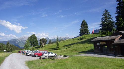 Der Alpin-Campingplatz auf Platten (1125m)