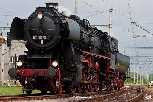 Rangierfahrt im Bahnhof Eger