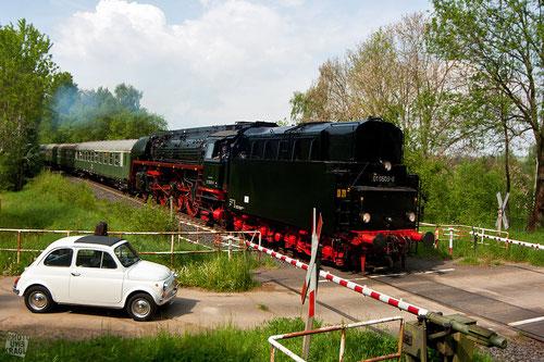 BR 01 zwischen Arzberg und Schirnding auf der Strecke nach Eger