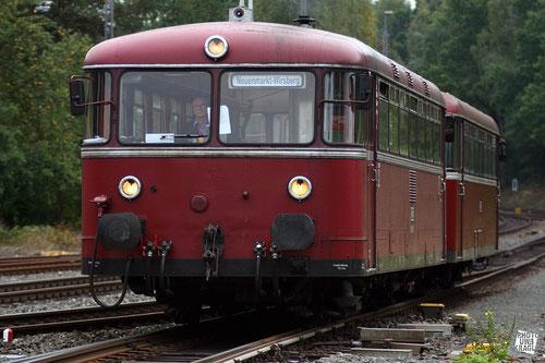 VT 796 des Dampflokomotiven-Museums Neunmarkt-Wirsberg